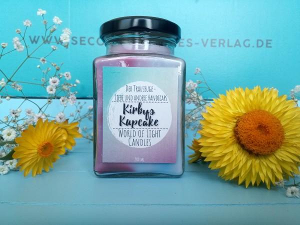 """Glaskerze """"Kirbys Kupcake"""" (Der Trauzeuge - Liebe und andere Handicaps!)"""